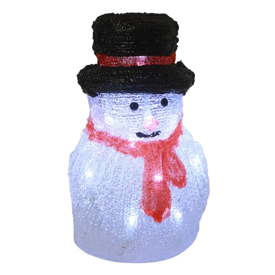 Christmas Small Snowman With Black Hat - Battery's Thumbnail