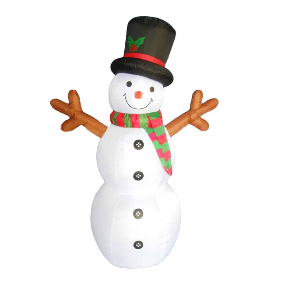 6Ft High Snowman; With Adaptor, Fan And Bulbs's Thumbnail